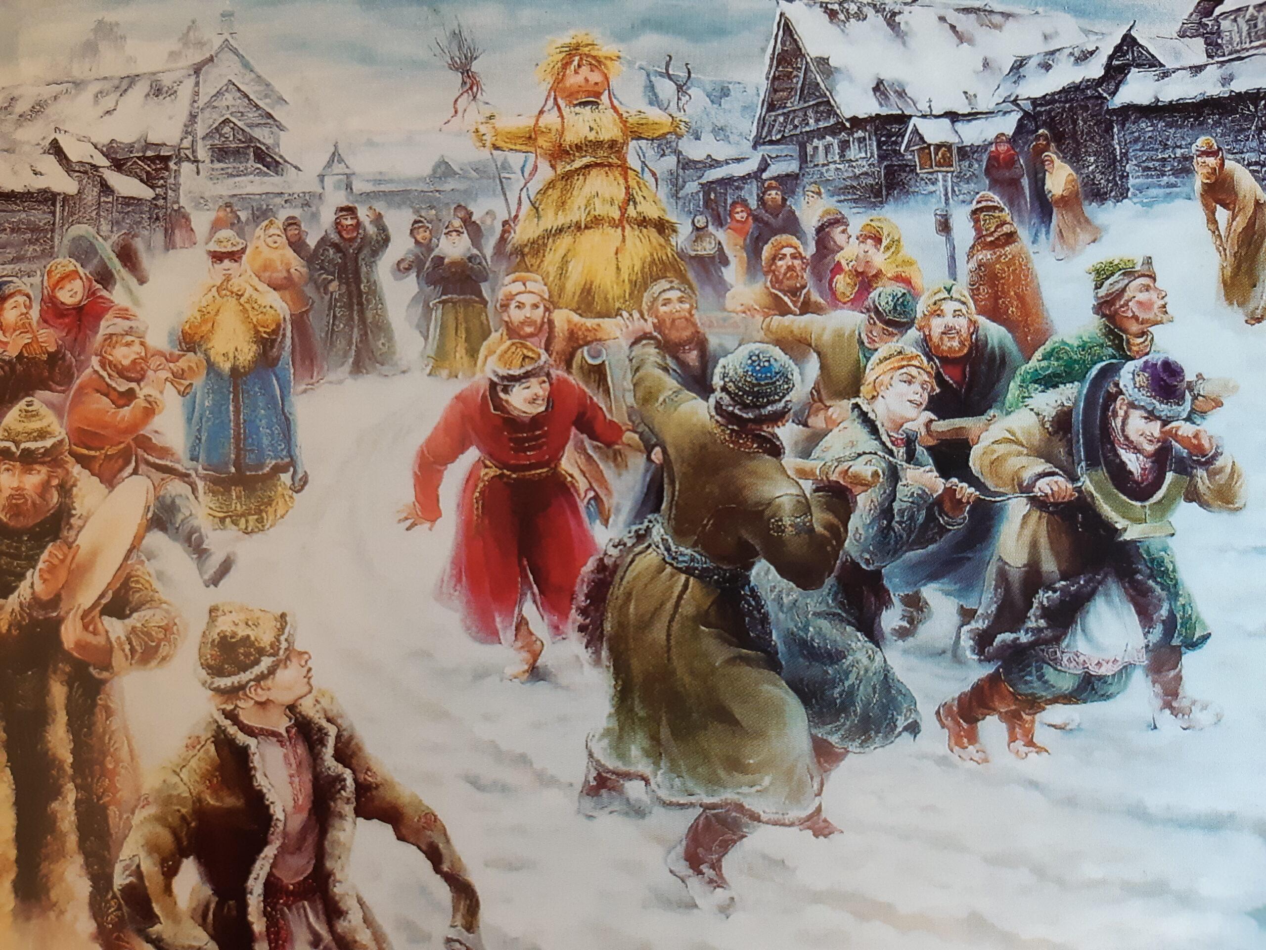 bambola russa di carnevale