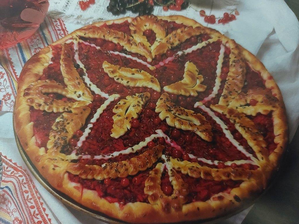 Torta russa di mirtilli