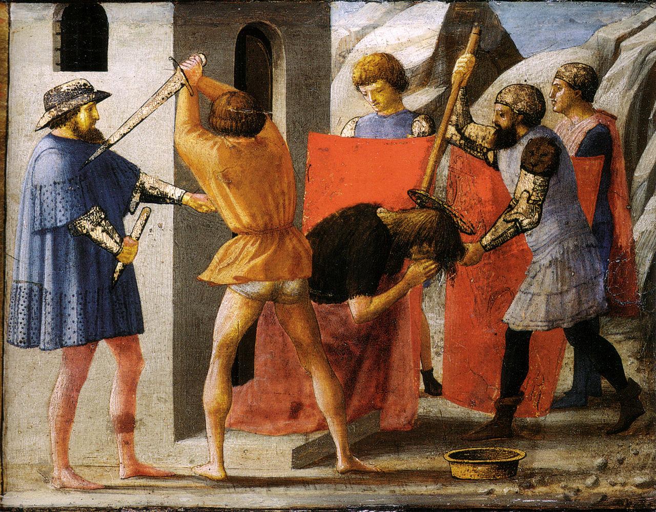 11 settembre decapitazione di Giovanni Battista